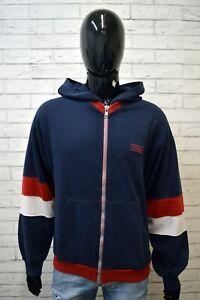 Felpa-con-Zip-Uomo-WRANGLER-Taglia-XL-Cardigan-Blu-Maglia-Maglione-Sweatshirt