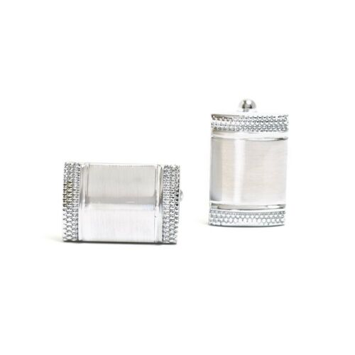 Mens Cuff Links Silver Rectangular Shirts Wedding Formal Gift cufflinks #44