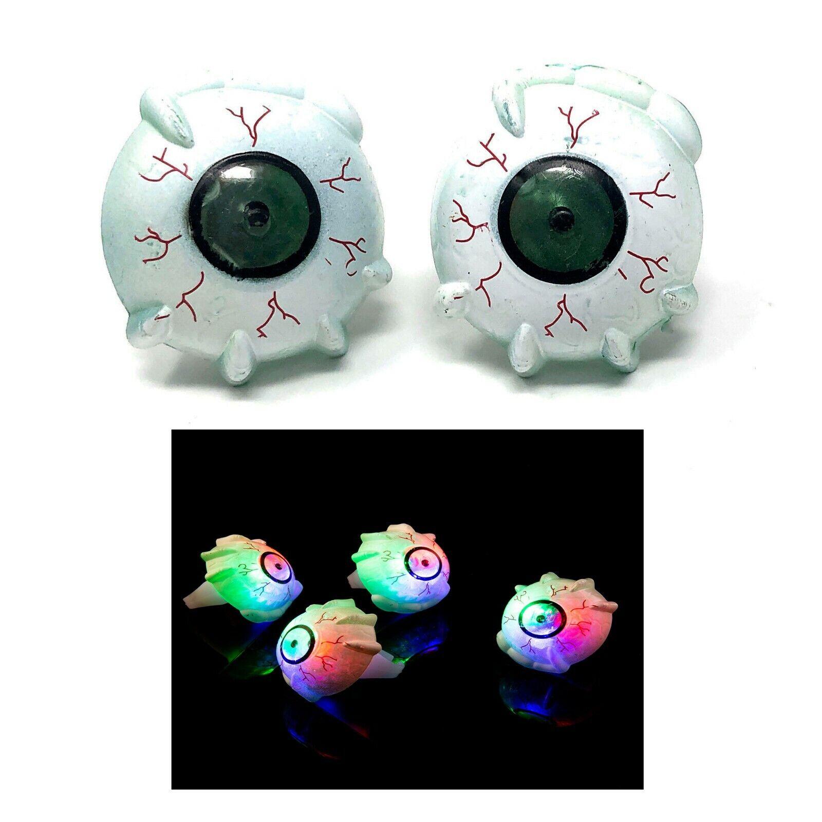 96 CRAZY EYE Eyeball DEL clignotants Doigt en Plastique Glow jouet anneaux Light Up Party