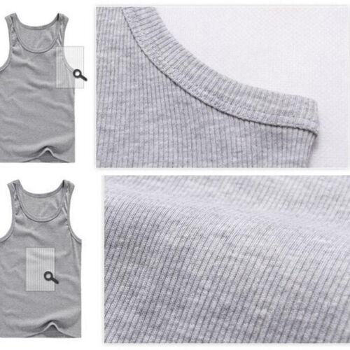 New Men/'s A-shirt Tank Top Undershirt ribbed 100/% Cotton