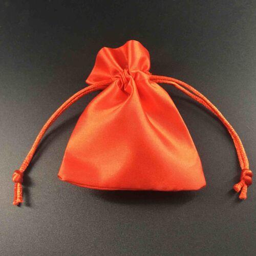Satin Silk Jewellery Drawstring Gift Bag Favour Wedding Party Pouches 4 Sizes
