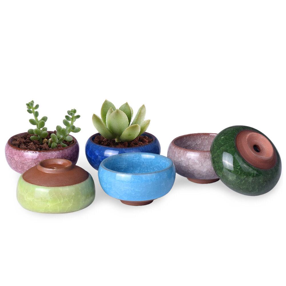 Sweet Ceramic Plant Pot Micro Cute Mini Potted Succulents Small Flower Pot✔GB