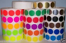 """500 1/2"""" CIRCLE COLOR CODED DOT LABEL STICKER 17 Colors FREE SHIPPING"""