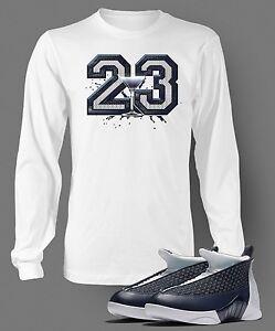 2a458aa82cc T Shirt to Match AIR JORDAN 15 OBSIDIAN Graphic Pro Club Long Sleeve ...