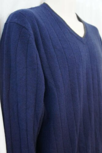 Suéter Cashmere Club Casual Sz M Ply Midnight 100 hombre 2 para Blue qfqwdrv