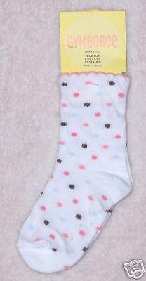 NWT Gymboree 0-3 mo LITTLE ROME White Polka Dot Socks