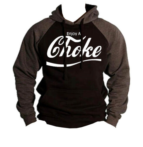 Men/'s Enjoy A Choke Funny Black Raglan Hoodie MMA BJJ Beast Workout Gym Sweater