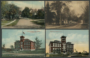 Altamont-NY-Four-c-1908-10s-Postcards-MAPLE-AVE-HIGH-SCHOOL-LOWER-MAIN-ST