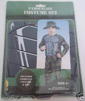 Rubie's Camouflage Costume Set Halloween Dress Up Size 4-6 Easy To Wear