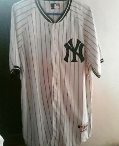 brand new a6caf a0aff Details about Original New York Yankees Jersey local for adult Men Majestic  Mlb white Baseball