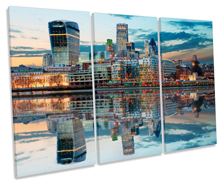 London City Skyline foto foto foto TREBLE TELA Wall Art Print 4ec79e