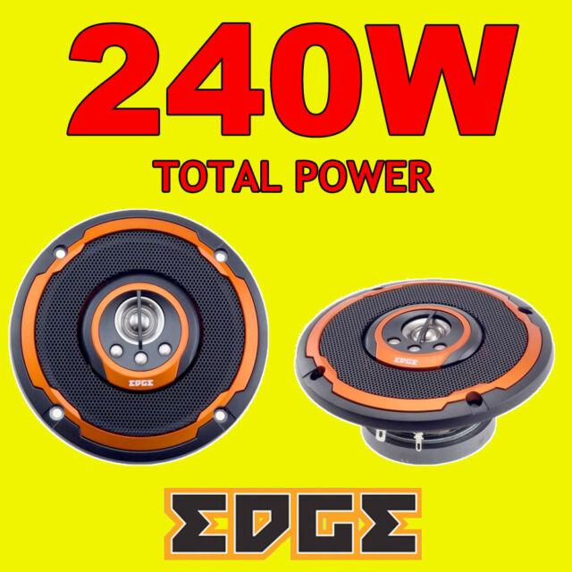 EDGE 240W TOTAL 4 INCH 10cm 4-WAY CAR VAN DOOR/SHELF COAXIAL SPEAKERS NEW ORANGE