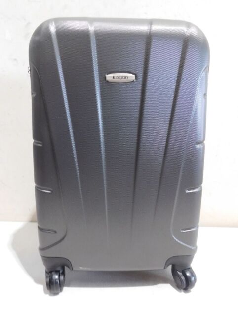 Kogan 3 Piece Hardside Spinner Luggage Set - Charcoal