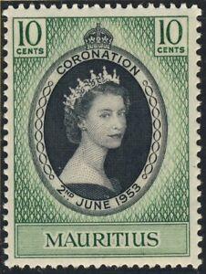 MAURITIUS-1953-QEII-CORONATION-SG-291-Scott-250-U-M