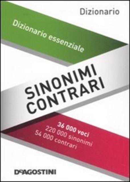 Dizionario Tascabile, Sinonimi e Contrari, De Agostini con 36,000 voci