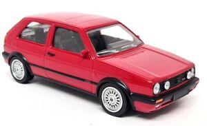 Norev 1/43 - Volkswagen Golf GTi MK2 G60 1990 Red Diecast Scale Model Car