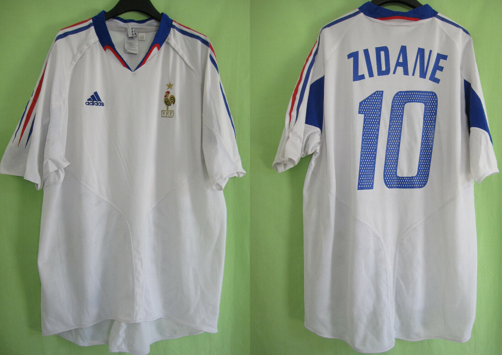 Maillot Equipe de France 2004 Away Zidane  10 Vintage Adidas Jersey  XXL