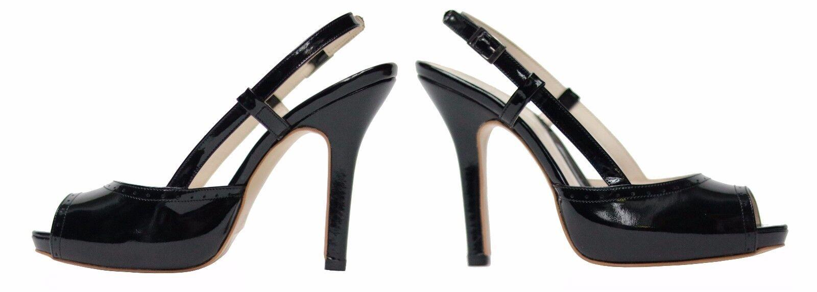 Damen Lack Schuhe Pumps Gr.37 Schwarz