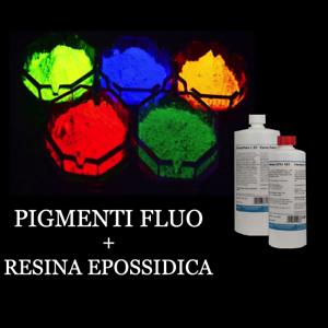 Poudre Photoluminescent Fluo 50g + Résine Époxy Transparent À 320gr