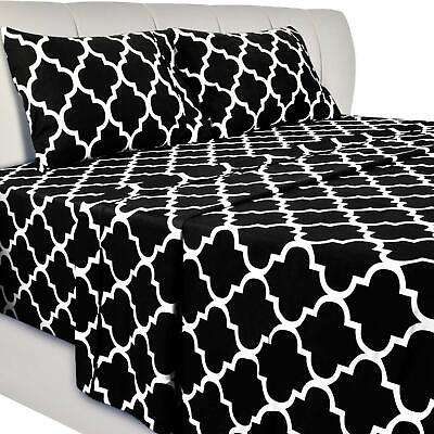 1 Flat Sheet and 1 Pillow Utopia Bedding Printed Bed Sheet Set 1 Fitted Sheet