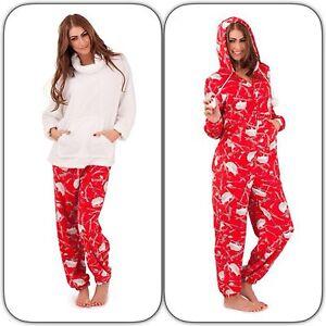 Luxury-Soft-Fleece-Red-amp-Cream-Hedgehog-Print-Twosie-Pyjama-or-Hooded-Onepiece