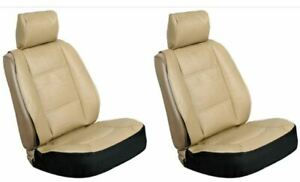 Universal High Back Bucket seat cover Sheepskin Camel Goldish TAN Color