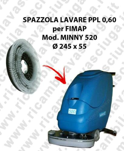 SPAZZOLA LAVARE  per lavapavimenti FIMAP modello MINNY 520 ø 245 x 55 PPL 0,60