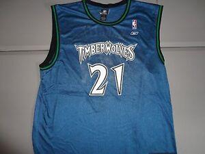34bd3453e10 Image is loading VTG-Blue-Minnesota-Timberwolves-21-Kevin-Garnett-NBA-