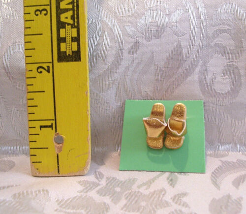 "Vintage BARBIE #946 DINNER AT EIGHT GOLD /""CORK/"" WEDGIE SHOES 1963 REPRO"