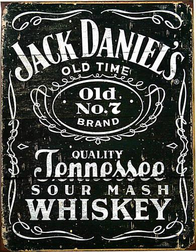 Jack Daniel`S Whisky Merchandising Vintage Plaque Repro Diners BAR Déco 958