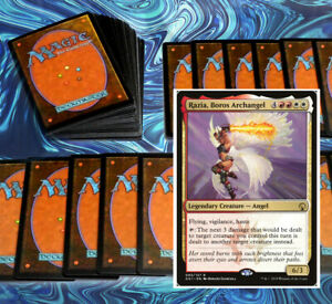 mtg-RED-WHITE-RAZIA-BOROS-COMMANDER-EDH-DECK-Magic-the-Gathering-angels-dragons