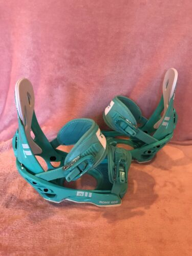 Details about  /New ROME SDS Shift Snowboard Bindings Women's 5-8 Teal
