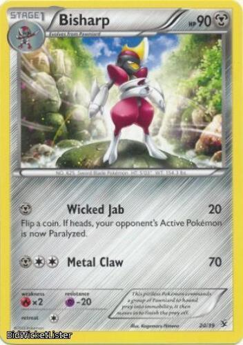 Bisharp XY KALOS-020 4x U Pokemon XY Kalos Series Card # 20