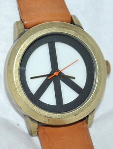 Lucky Brand Watch Silvertone Peace Symbol Bracelet | Lucky ... |Lucky Brand Peace Watch