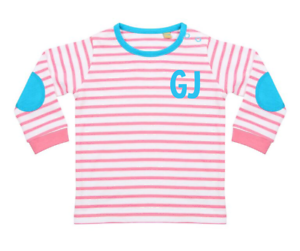8be66409 Image is loading Personalised-Initials-Baby-Top-Toddler-T-shirt-Cute-