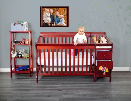 Fizzy 5 in 1 Full Crib with Baby Changing Table