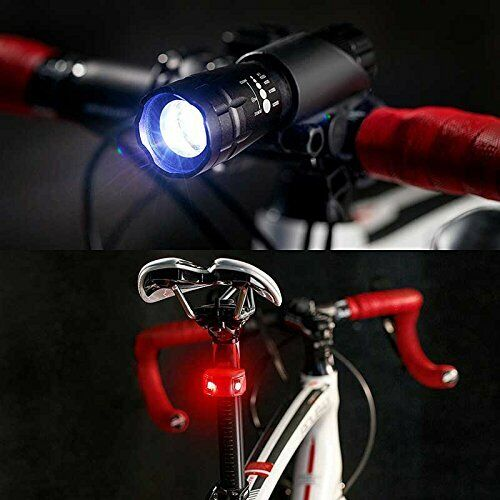 Bike Light LED Set Front And Back Perfect For Mountain /& Street /& Night Ridi