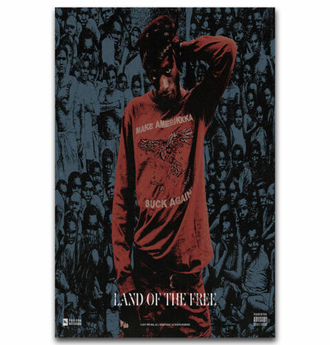 Print Art Silk Poster 0474D Hot New Joey Badass Rap Music Land Of The Free