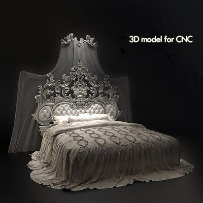 CNC 3d Relief Model STL for Router 3 axis Engraver  ArtCam  # bed 2