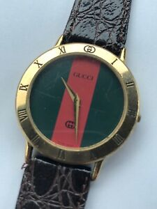 1ca51ac93c5 Gucci Watch - 3000m Red   Green Face Gold plated Unisex New Band ...