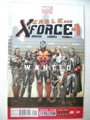 NM MARVEL NOW! FEB 2013 CABLE /& X-FORCE # 1