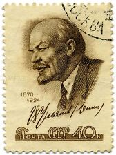 OLD POSTAGE STAMP LENIN POST PHILATELY PHOTO ART PRINT POSTER PICTURE BMP1483A