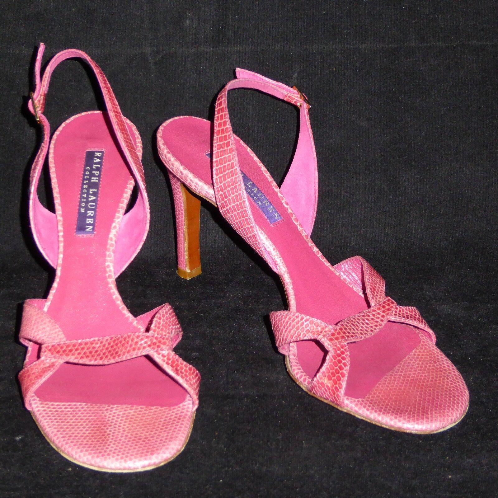 Ralph Lauren Collection violet Label  3 1 2 High Heel rose Pumps chaussures 7 B