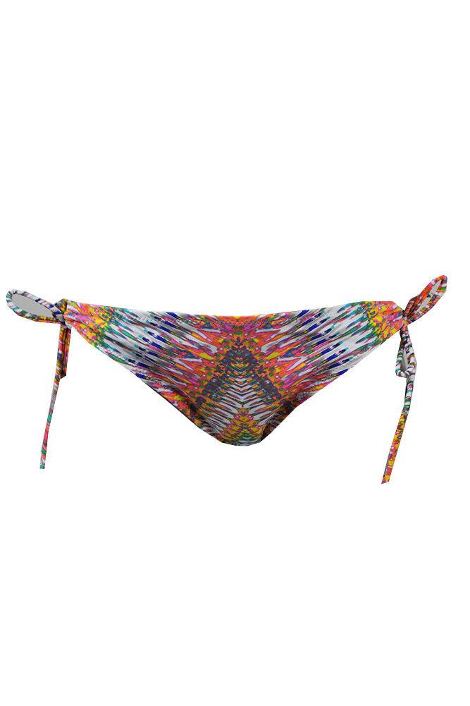 Raisins Gelb Multi Tribal Bedruckt Frecher Ring Stringer Bikini Unten S