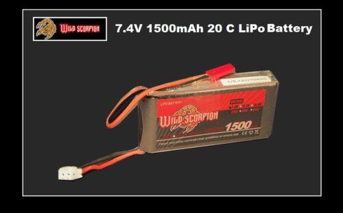 Wild Scorpion 7.4 V 1500 mAh 25 C LiPo Batterie