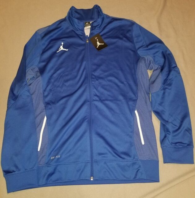 cdd5abe6d6c6 NIKE JORDAN FLIGHT TEAM MENS DRI-FIT JACKET BLUE 696736 493 NEW XL X-