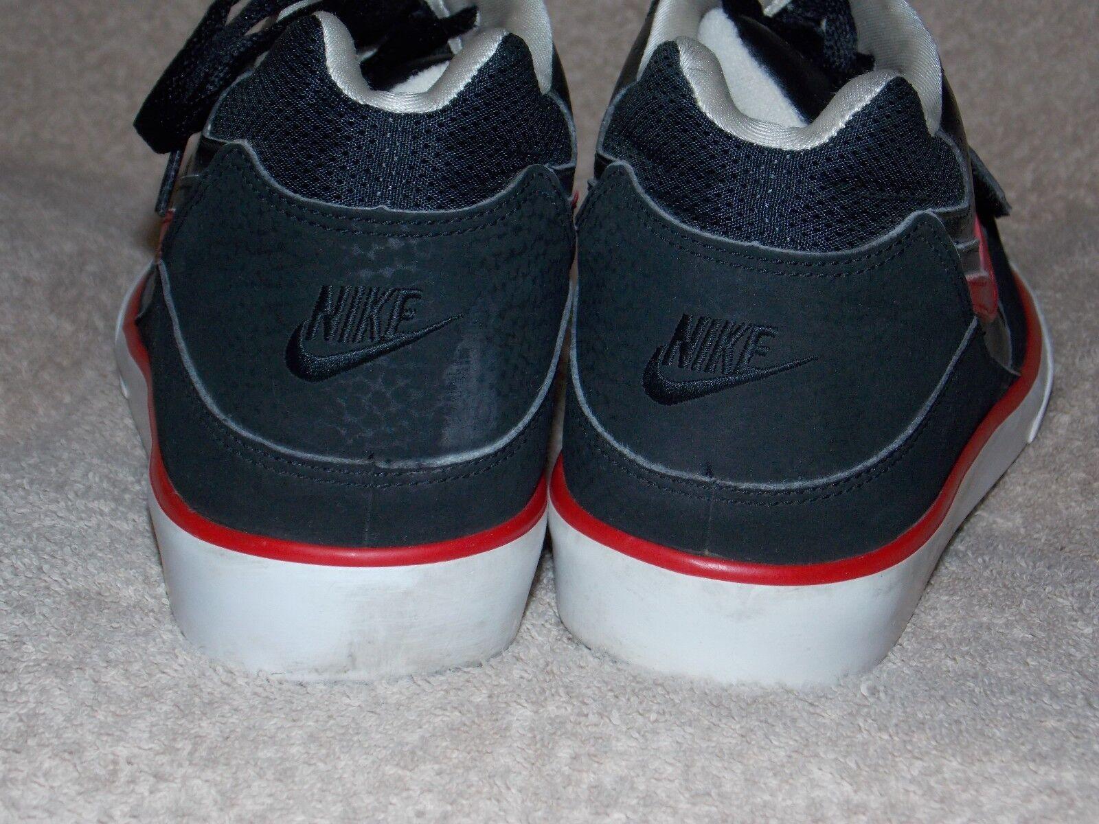 Nike macht schwarz - rot - basketball - männer schuhe 9 männer - verwendet 25637b