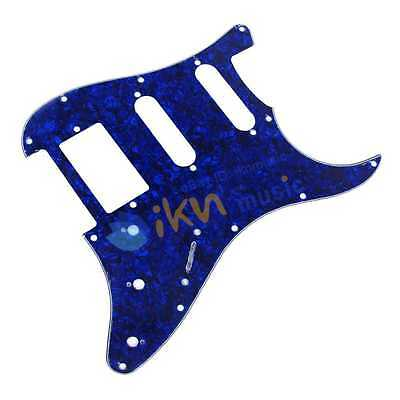 3Ply Blue Pearl SSH Guitar Pickguard for ST Strat Style Electric Guitar