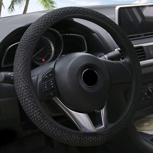 Summer-Cool-Elastic-Car-Auto-Steering-Wheel-Cover-Non-Slip-38cm-Hand-Made-1PCS