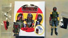 Display Box /& Figure Stand Custom Vintage Kit Bashed Rocket Firing Boba Fett